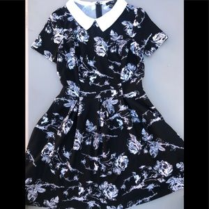 Forever 21 Floral Collared dress